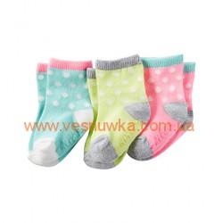 Набор из трех пар носков в горошек Carters, , 1021021, CARTERS, Нижнее белье, носочки, колготы