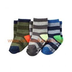 """Набор из трех пар носков  Carters """"Полосатик"""", , 1021022, CARTERS, Нижнее белье, носочки, колготы"""