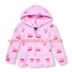 """Кофта флисовая  """"Сердечки"""" розовая Childrens Place, , 10610610, Children Place, Кофты и флиски"""