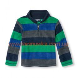 """Кофта флисовая  """"Полоски"""" серо-зеленые Childrens Place, , 1061067, Children Place, Кофты и флиски"""