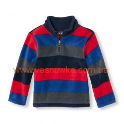 """Кофта флисовая  """"Полоски"""" красно-синие Childrens Place, , 1061069, Children Place, Кофты и флиски"""