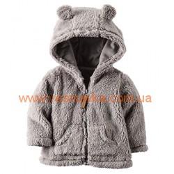 Кофта-курточка теплая серая с ушками Carters , , 10710713, CARTERS, Кофты и флиски