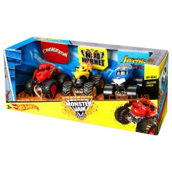 Набор из 3 машинокHot Wheels Monster Jam Creature 1:64 Scale , , 1081085, Mattel (USA), Игрушки