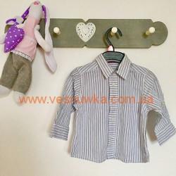 Уценка! Котоновая рубашка 3-6мес, , 10510544, Другие производители, Уценка (товар без оригинального фото)