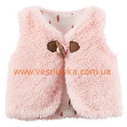 """Меховая накидка Carters """"Розовый пушистик"""", , 11311304, CARTERS, Верхняя одежда, зимние комбинезоны"""