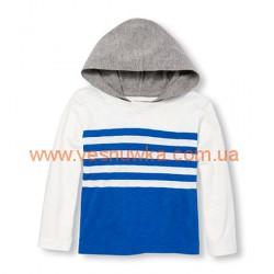 """Кофта коттоновая  """"Полоски"""" бело-синие Childrens Place, , 11511516, Children Place, Регланы"""