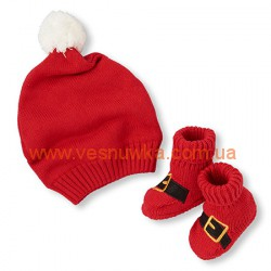 Набор 2в1 шапка  + носочки, красный Children's place, , 11511535, Children Place, Шапочки, варежки, царапки