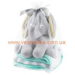 """Полотенечка и игрушка для купания Carters """"Слоненок"""", , 114114129, CARTERS, Все для купания и ухода"""