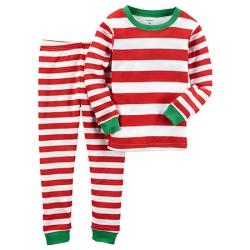 Пижама  2в1 Carters в красно-белую полосочку, , 114114143, CARTERS, Sale Девочки