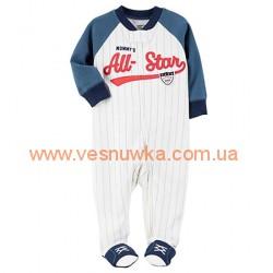 """Котоновый  человечек слип  Carters  """"Бейсбол"""" , , 11411440, CARTERS, Пижамы"""