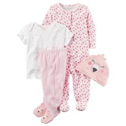 """Подарочный набор 4в1 Carters """"Розовый фламинго"""", , 11811803, CARTERS, Подарочные наборы"""