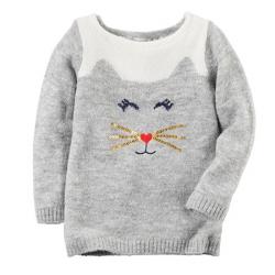 """Свитер теплый  """"Kitty"""" Carters, , 11811824, CARTERS, Новогодние наряды"""