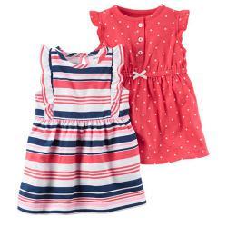 """Набор 2в1 платье   """"Маленькая леди"""", , 1300028, CARTERS, Платья и юбки"""