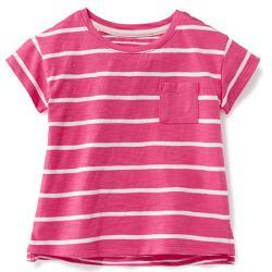 Футболка розовая в полосочку OldNavy , , 13200037, Old Navy, Рубашки и футболки