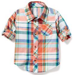 Котоновая рубашка в клетку OldNavy, , 1320050, Old Navy, Рубашки и футболки