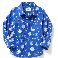 """Котоновая рубашка """"Морская"""" OldNavy, , 1320055, Old Navy, Рубашки и футболки"""