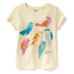 """Футболка """"Счастливые птички"""" OldNavy , , 1320025, Old Navy, Рубашки и футболки"""