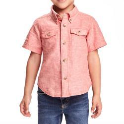 """Рубашка розового цвета (лён)  """"Лето"""" OldNavy, , 133009, Old Navy, Рубашки и футболки"""