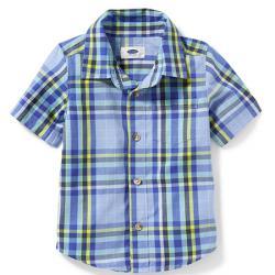 Котоновая рубашка в  клетку OldNavy, , 133010, Old Navy, Рубашки и футболки