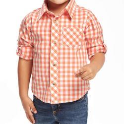 Яркая котоновая рубашка клетку OldNavy, , 1320056, Old Navy, Рубашки и футболки