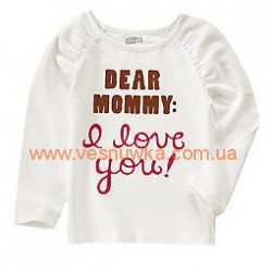 """Кофта Crazy8 """"Dear Mommy: I Love You"""""""