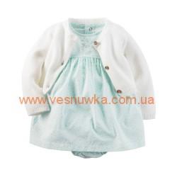 """Набор 2в1 платье с вязаным кардиганом  """"Малышке комфортно"""", , 878705, CARTERS, Новогодние наряды"""
