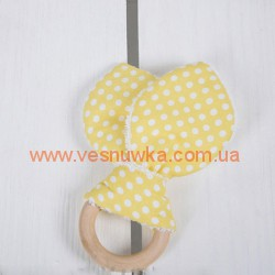 "Игрушка-грызушка ""Горошек на желтом"" MagBaby, , 919148, MagBaby (Украина), Аксессуары"