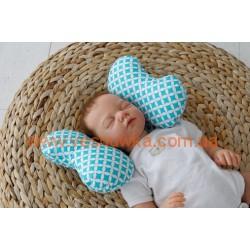 """Детская подушка для новорожденных """"Butterfly"""", бирюза MagBaby"""