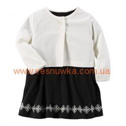 """Набор 2в1 платье с кардиганом  """"Классика"""", , 949438, CARTERS, Новогодние наряды"""