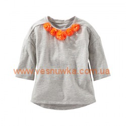 "Реглан OshKosh ""Оранжевые цветочки"", , 959533, OSHKOSH, Регланы, туники"