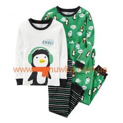 """Пижама 4в1 Carters """"Пингвинчик"""", , 979735, CARTERS, Новогодние наряды"""
