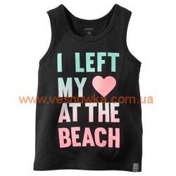 "Майка ""Люблю пляж"" Carters, , 989831, Children Place, Рубашки и футболки"