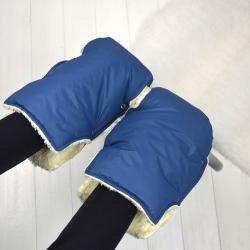 """Муфта на коляску для рук """"Класика"""" синяя Plamka , , 1240002_920, Plamka (Poland), Муфты для рук"""