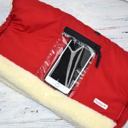 "Муфта на коляску, для рук и телефона ""Красная"" Plamka , , 1240002_9141, Plamka (Poland), Муфты для рук"