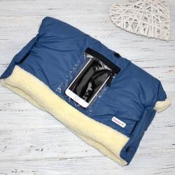 """Муфта на коляску, для рук и телефона """"Синяя"""" Plamka , , 1240002_9141, Plamka (Poland), Муфты для рук"""