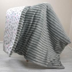 "Плед теплый ""Шарпей"" на выписку/для прогулок серый Plamka (Poland), , 1240077_3, Plamka (Poland), Конверты, одеяла, пледы"