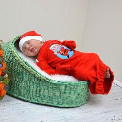 "Набор 2в1 спальник с шапочкой  ""Little Santa"" Plamka, , 00000656, Plamka (Poland), Спальники"