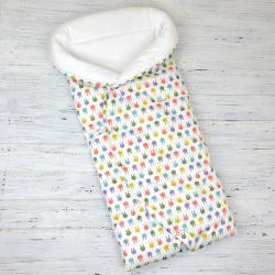 """Конверт-одеяло (круглое) на выписку """"Зайки"""" Plamka (Poland)"""