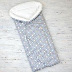 "Конверт-одеяло (круглое) на выписку ""Звездочки"" Plamka (Poland)"