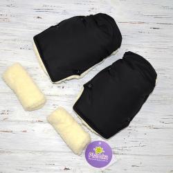 """Муфта на коляску для рук """"Классик"""" черная Plamka , , 00000, Plamka (Poland), Муфты для рук"""
