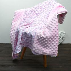 "Плед на выписку/для прогулок ""Бабочки"" розовый Plamka (Poland), , 1240077_321, Plamka (Poland), Пледы для малышей"