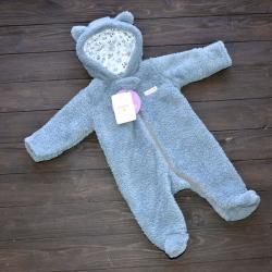 Человечек плюшевый «Мишутка» темно серый Plamka, , 1240020, Plamka (Poland), Верхняя одежда, зимние комбинезоны