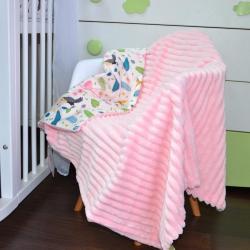 """Плед без утеплителя """"Шарпей"""" на выписку/для прогулок розовый (фламинго) Plamka (Poland), , 1240077_35, Plamka (Poland), Пледы для малышей"""