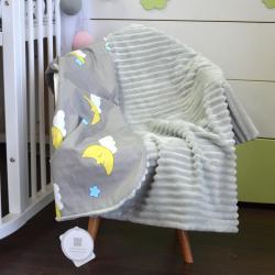 """Плед без утеплителя """"Шарпей"""" на выписку/для прогулок серый  (луна) Plamka (Poland), , 1240077_35, Plamka (Poland), Пледы для малышей"""