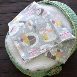"""Пеленка муслиновая (бамбук) Plamka """"Мишки"""" NEW, , 1240000332-9, Plamka (Poland), Пеленки фланелевые и муслиновые"""