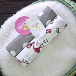 """Пеленки фланелевые Plamka 2в1 """"Розовый фламинго"""", , 1240000333_1, Plamka (Poland), Пеленки фланелевые и муслиновые"""