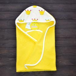 "Полотенце уголок после купания  ""Принцесса""  желтое, , 1240026_57, Plamka (Poland), Полотенца"