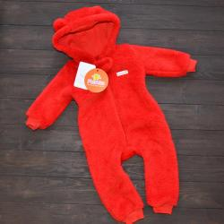 Человечек плюшевый «Мишутка» красный 12,18,24 м Plamka, , 1240020_11, Plamka (Poland), Человечки и слипы