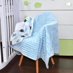 """Плед без утеплителя """"Шарпей"""" на выписку/для прогулок голубой  (звезды) Plamka (Poland), , 1240077_35, Plamka (Poland), Пледы для малышей"""