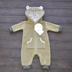 """Флисовый человечек  """"Bear"""" оливковый  Plamka (Poland)"""